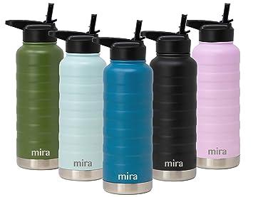 Amazon.com: MIRA Botella de agua de acero inoxidable con ...