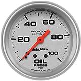 Auto Meter 4421 Ultra-Lite Mechanical Oil Pressure Gauge Regular, 2-5/8' (66.7mm)