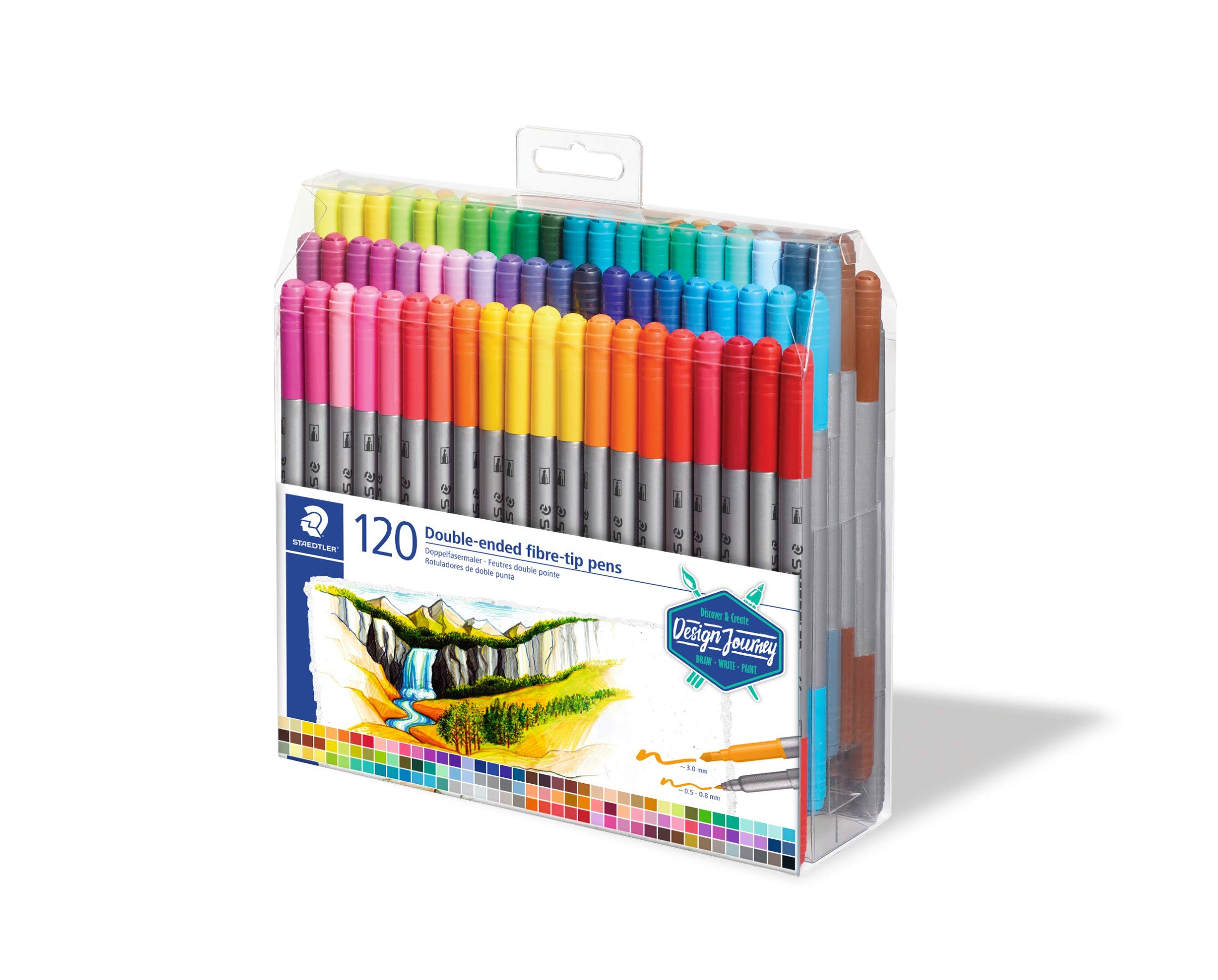 STAEDTLER 334 C36JB  0.3 mm Triplus Fineliner Pens Adult Colouring Packaging,