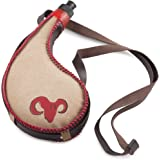 LEAK PROOF Bota Bag – 750ml Spanish Wine Skin – Premium Leather Canteen With Heavy Duty BPA-Free Bladder Liner and Comfortable Shoulder Strap