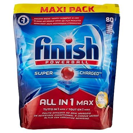 Detergente en pastillas para lavavajillas Finish Todo en Uno limón ...