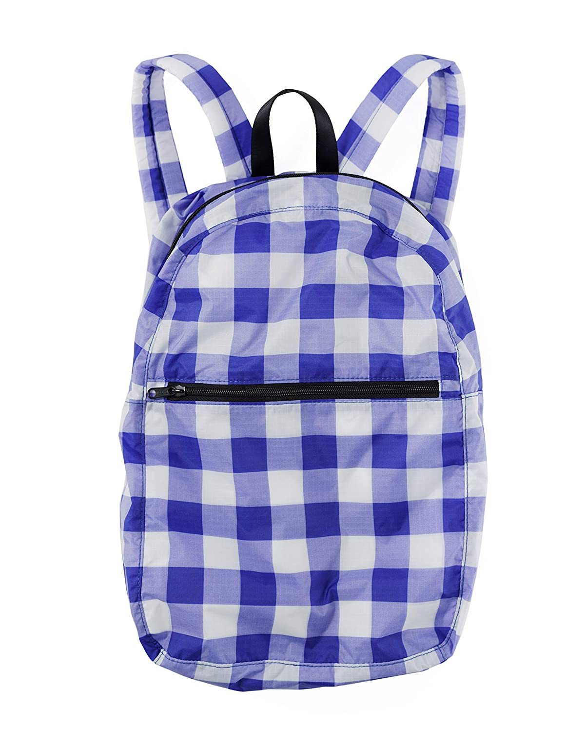 431074e69564 Ripstop Nylon Backpack, Lightweight Packable Backpack Ideal for Travel or  the Gym, Big Check Blue