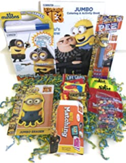 Minions Easter Basket Filler With Candy Matching Game Jumbo Coloring Book And Accessories