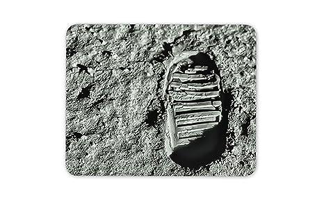 El hombre en la luna Primer paso de la huella alfombrillas ...