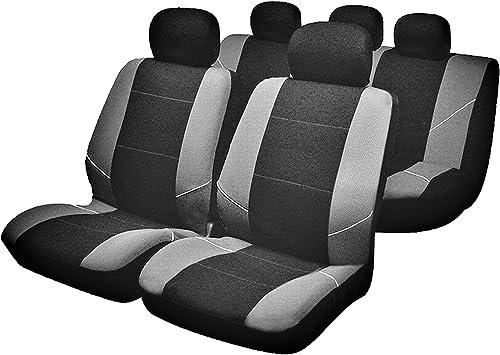5x Sedili Grigio Auto Cuscino Set EDIZIONE nero nuovo alta qualità in sede bella