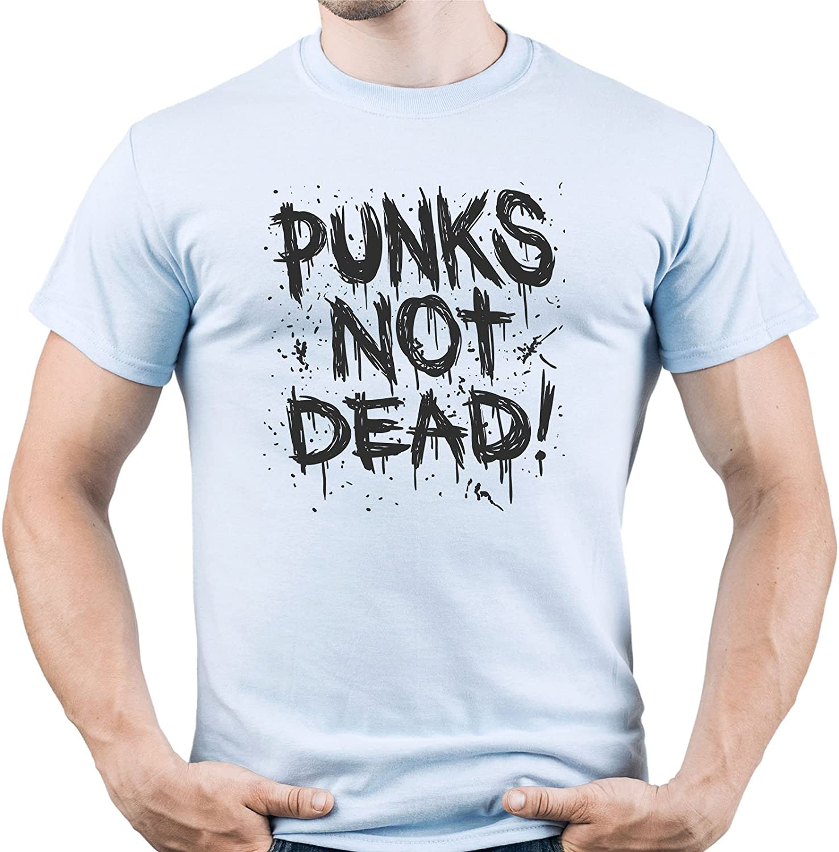 Punk Rock Shirt Punks Not Dead Tshirt Punk tee Punk Music Camiseta para Hombre: Amazon.es: Ropa y accesorios