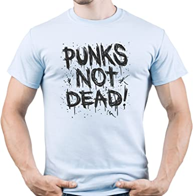 Punk Rock Shirt Punks Not Dead Tshirt Punk tee Punk Music Camiseta para Hombre: Amazon.es: Ropa y accesorios