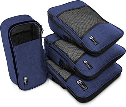 i Spring 3 Set Packing Cubes,2 Various Sizes Travel Luggage Packing Organizers