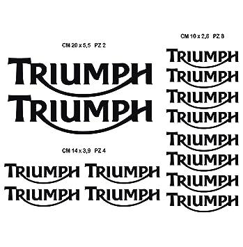5 cm Ecoshirt G5-QLWA-UM6U Adesivi Triumph RIF Dp245 Aufkleber Adesivi Moto Decals