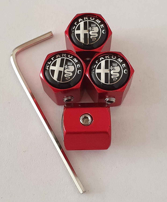 Speed Demons Alfa Romeo Capuchons Anti-poussi/ère de Valve en m/étal Rose fonc/é pour Tous Les mod/èles de Voiture