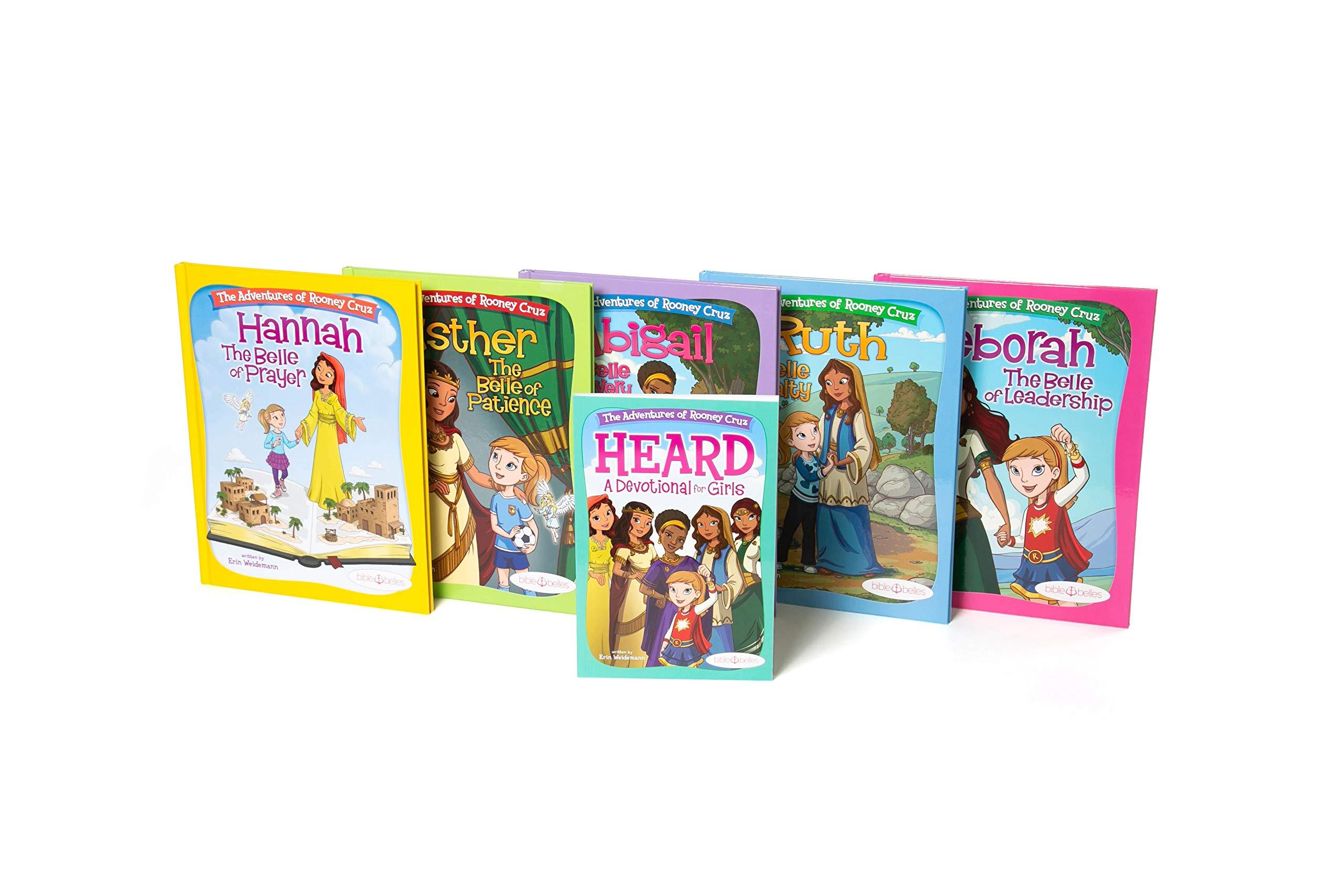 Bible Belles Christian Children's Book Set, The Adventures Of Rooney Cruz Bible Story Books, Age 4 – 10, Set Of 5