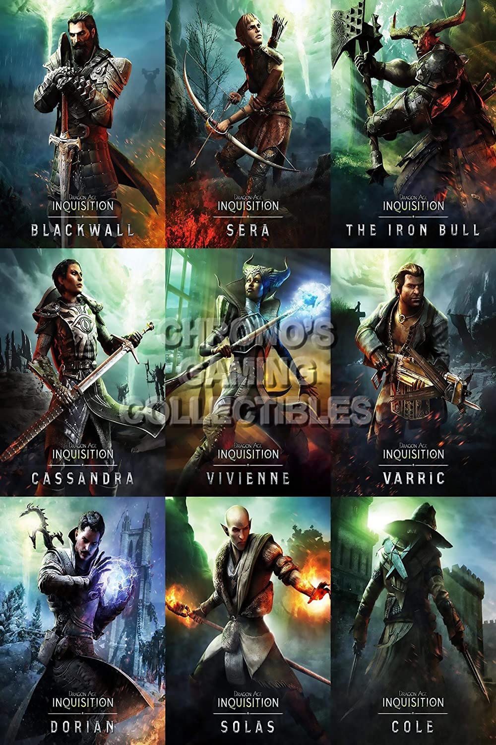 Amazon Com Primeposter Dragon Age Inquisition Poster Glossy Finish Made In Usa Characters Ydai004 16 X 24 41cm X 61cm Posters Prints,United Checked Baggage Weight