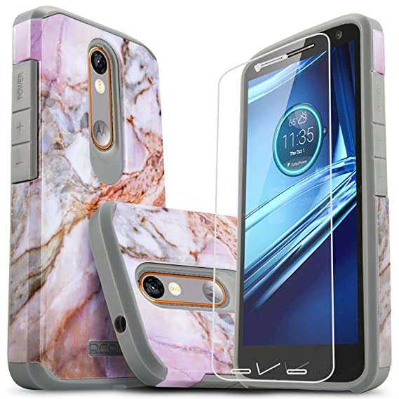 Droid Turbo 2 Case, Starshop [Shock Absorption] Hybrid Dual Layers Rugged Impact Advanced