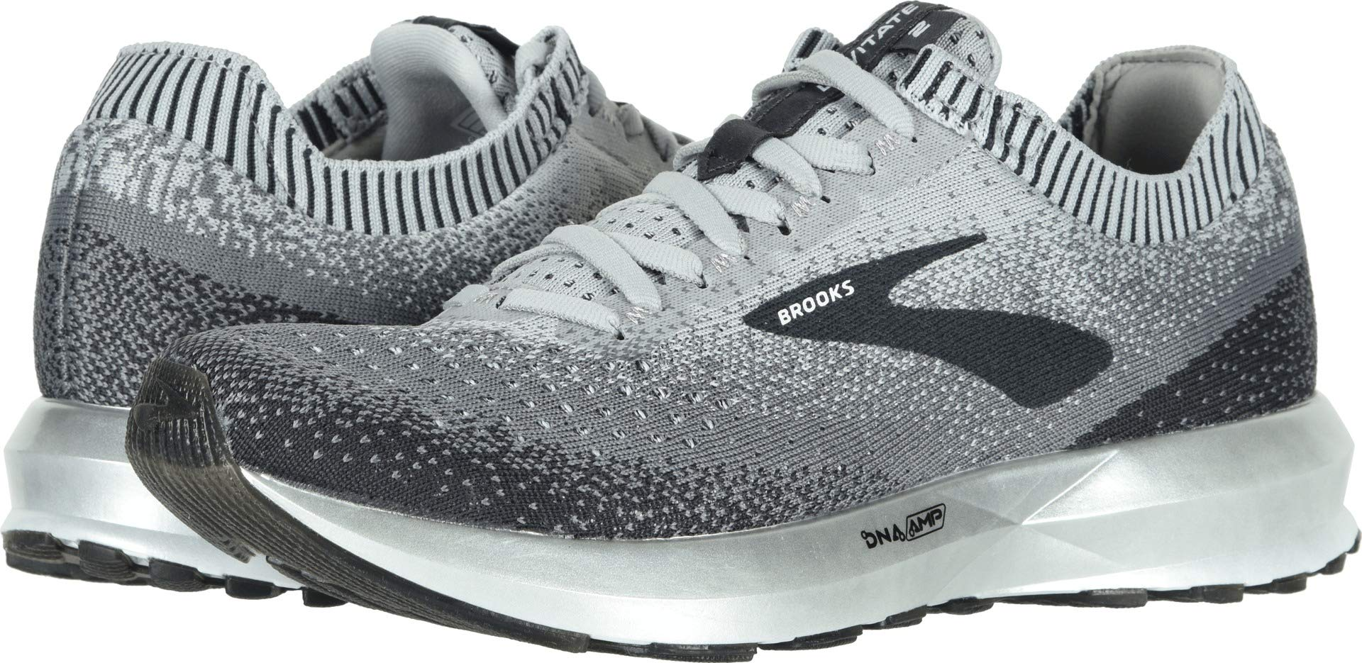 Brooks Women's Levitate 2 Grey/Ebony/White 5 B US