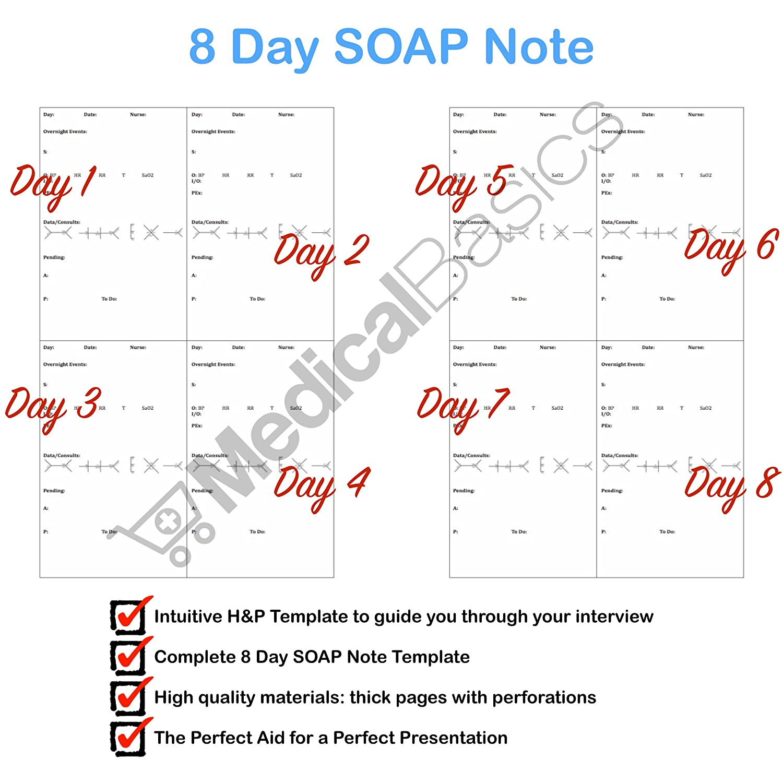 Amazon.com: Progress SOAP and H&P Notebook - Progress Note + Medical ...