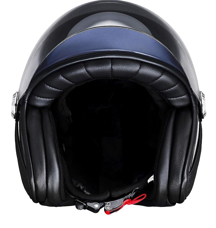 en Fibre de Carbone Casque Ujet pour Scooters et Motos l/éger et futuriste Shibuya Gold, XL