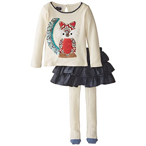 Mud Pie Little Girls Fox Skirt Set