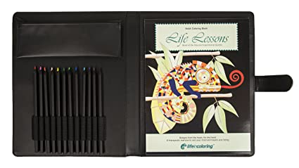 Life In Coloring Complete Adult Book Kit Set Includes Elegant Portable Refillable Travel Carrying Case