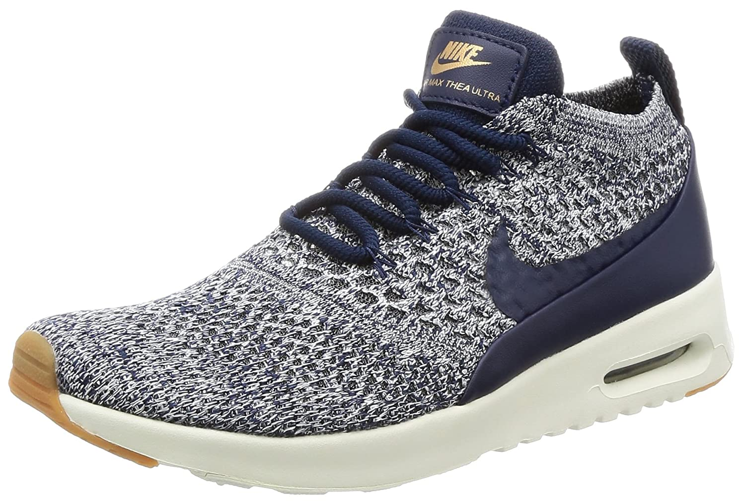 NIKE Women's Air Max Thea Ultra FK Running Shoe B0714BVRZ2 7.5 B(M) US|College Navy / College Navy-sail