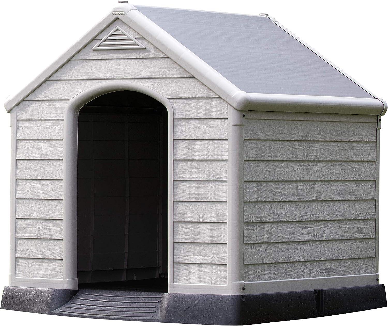 Curver - Caseta de perro para jardín, Color topo/beige, 95x99x99 cm