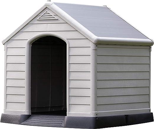 Curver 12-921177 - Caseta de perro para jardín, Color topo/beige, 95x99x99 cm: Amazon.es: Jardín