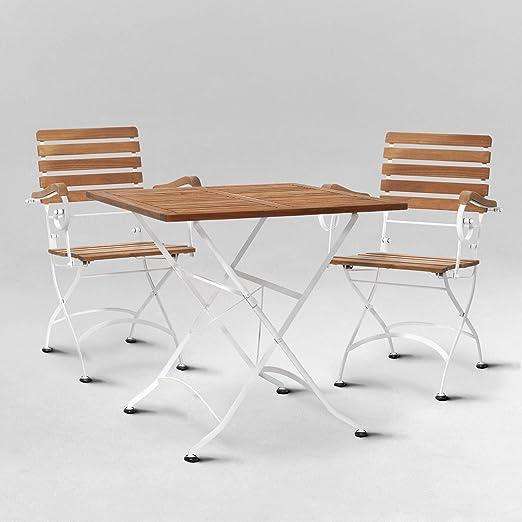 Butlers Parklife Gartenmöbel Set aus Holz 80x80x75 cm