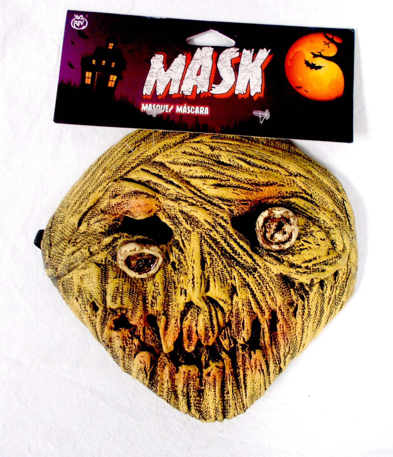 Amazon.com: Caretas Rev Yellow Zombie Costume Mask Adult OSFM: Toys & Games