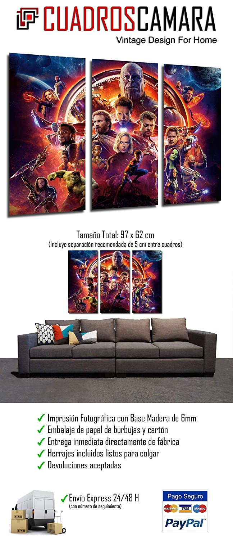 RIF Quadro Moderno Fotografico Palloncini Superheroes Avengers Infinity War 2018 Avengers della Guerra Infinito 2018 97/x 62/cm 27132/