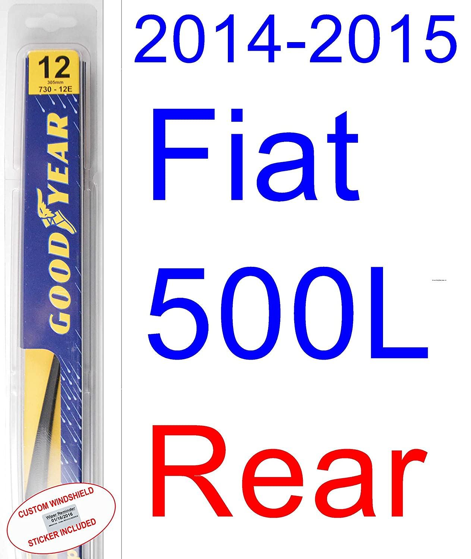 Amazon com 2014 2015 fiat 500l wiper blade rear goodyear wiper blades assurance automotive