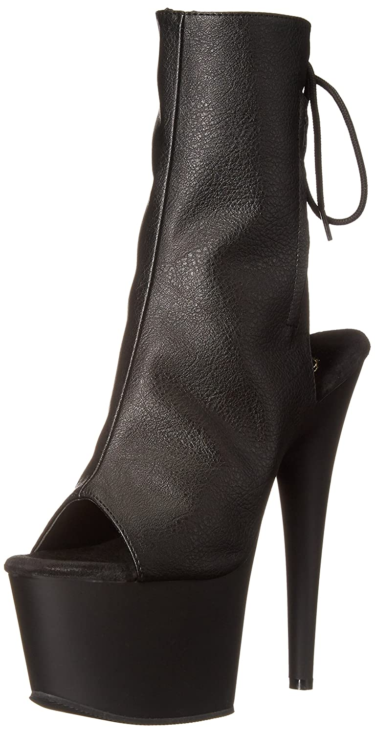 PleaserAdore - Botas Mujer38 EU|Negro - Black (Blk Faux Leather/Blk Matte)