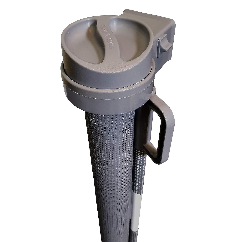 Callowesse/® 110cm si utilis/é comme Barri/ère pour B/éb/é Barri/ère de S/écurit/é R/étractable en Maille 0-130cm - Couleur: Gris