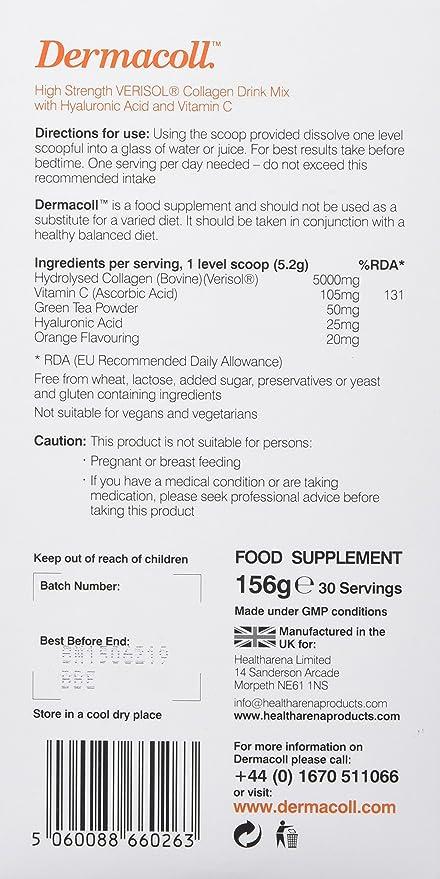 Health Arena 156g Dermacoll Verisol Collagen Drink: Amazon ...