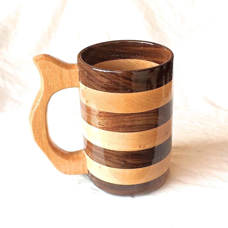 20 Ounce Walnut And Hickory Wood Mug Renaissance Faire Mug