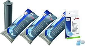 Jura Water Filters Claris/Clearyl Smart + Cleaning Tablets Value Combo - 3 Filters + 6 Cleaning Tablets