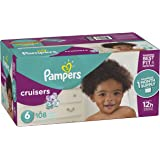 Pampers Cruisers Disposable Diapers Size 6, 108 Count, ONE MONTH SUPPLY