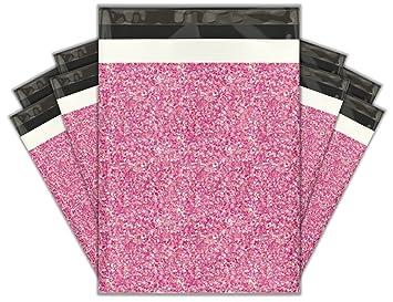 10 x 13 (100) rosa confeti funda Poly sobres bolsas de envío ...