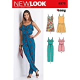 New Look 6373 Size A Misses' Jumpsuit or Romper and Dresses Sewing Pattern, Multi-Colour