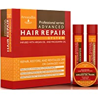 Advanced Hair Repair Shampoo and Conditioner Set with Argan Oil and Macadamia Oil...