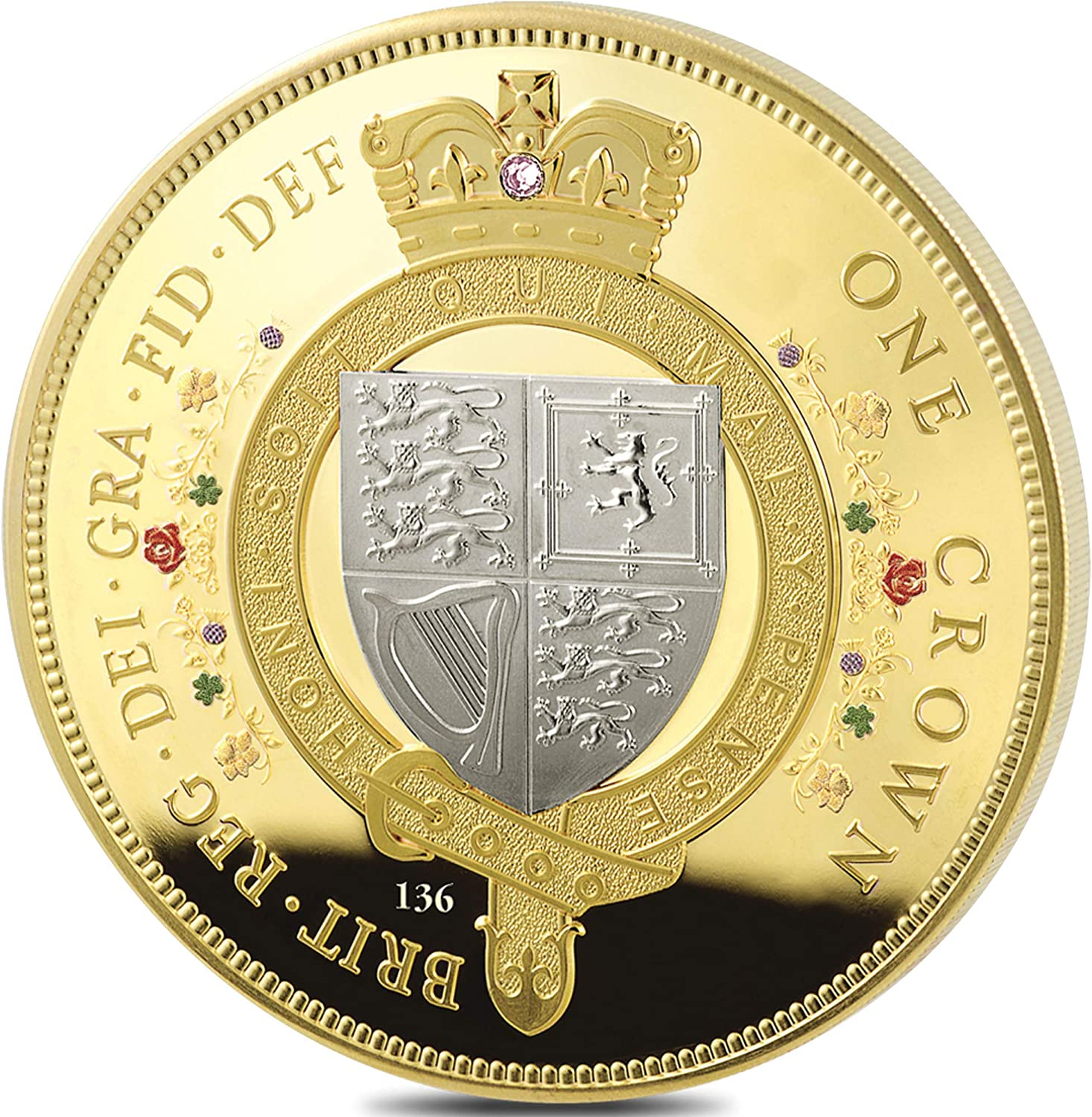 The Year She Became Longest-Reigning Monarch Individually Numbered Minted On The Queen/'s Birthday In 2015 The Bradford Exchange The Longest Reigning Monarch Golden Crown Coin