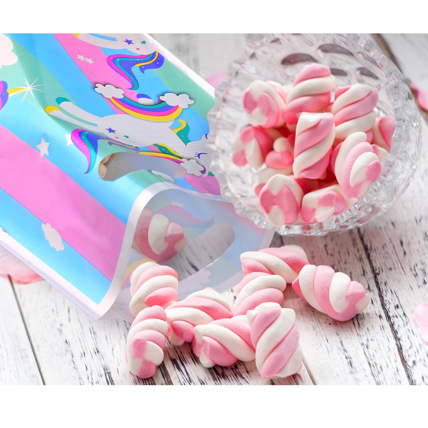 Candy Treat Bags by Party Crush Goodie Bags 24 Unicorn Party Favor Bags