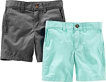 Simple Joys by Carter's pantalones cortos de frente plano para niños pequeños paquete de 2