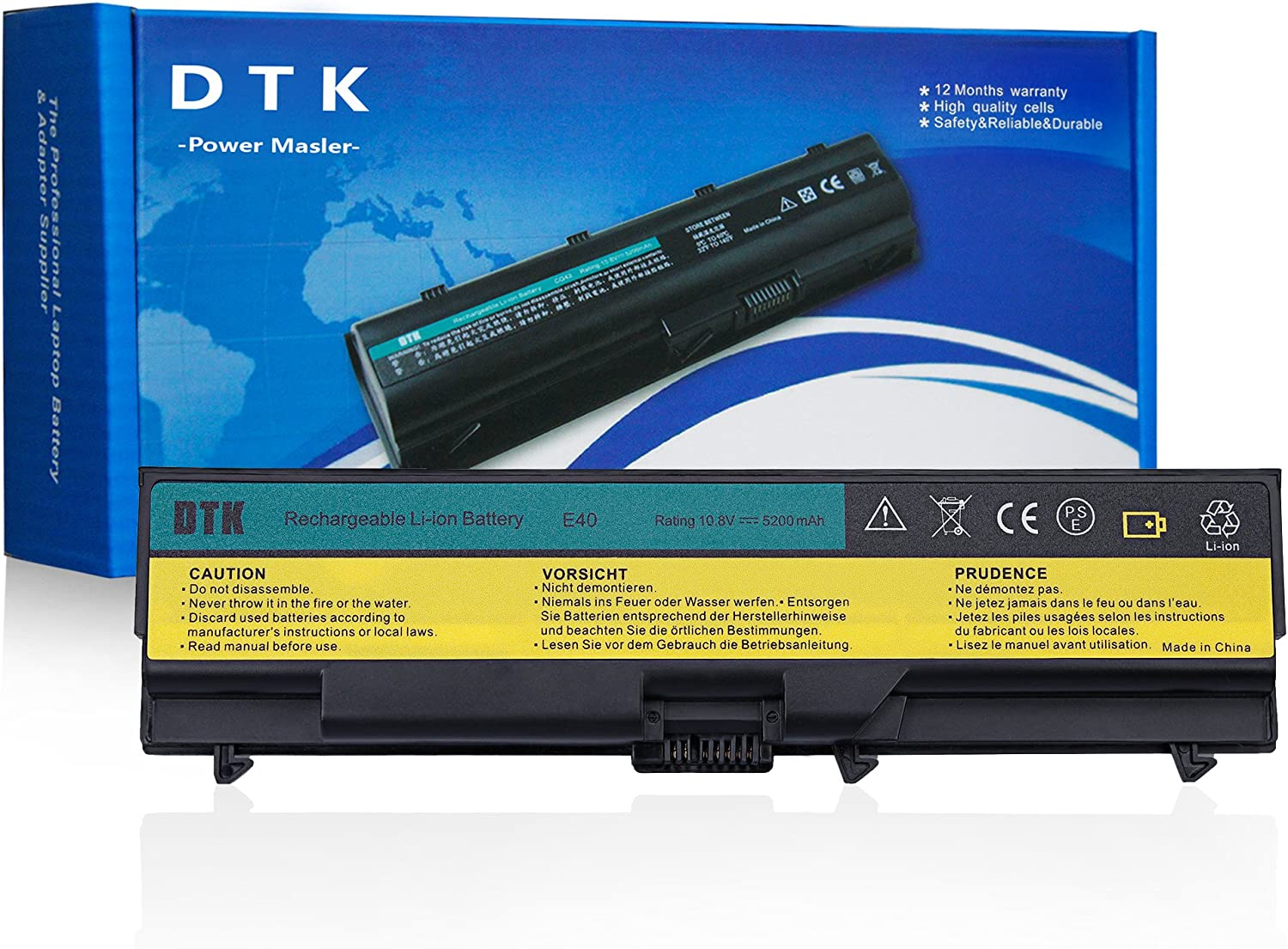 Dtk Laptop Battery for Lenovo Thinkpad E40 E50 Edge 0578 E420 E425 E520 E525 L410 L412 L420 L421 L510 L512 L520 Sl410 Sl410k Sl510 T410 T410i T420 T510 T510i T520 W510 W520 Notebook Battery