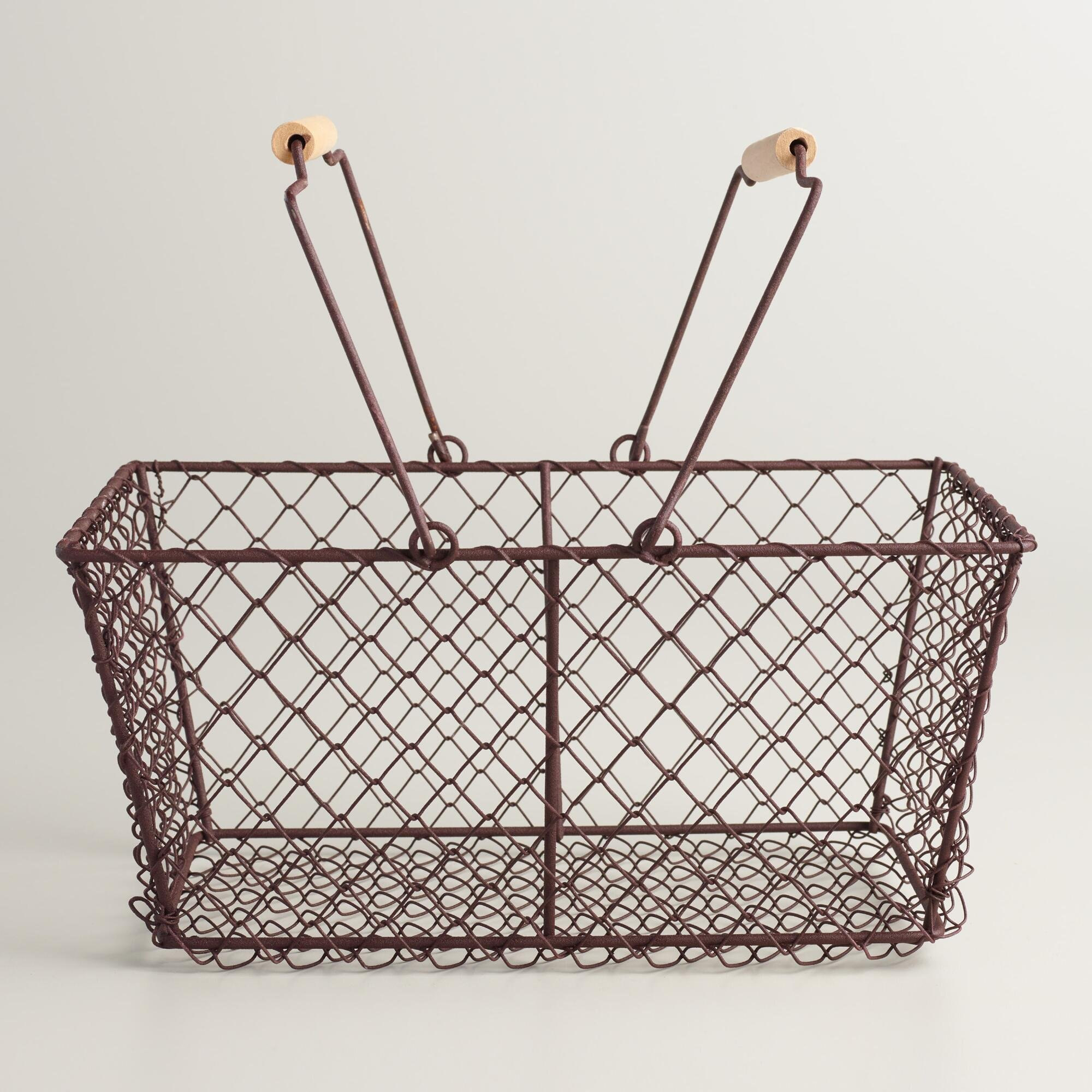 Rectangular Rustic Wire Basket 12''W x 5.5''D x 8''H by Rectangular Rustic Wire (Image #1)