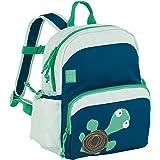 Lässig Kinderrucksack Medium Backpack Kindertasche mit Brustgurt, Wildlife Schildkröte, Blau, 30 cm, Blue