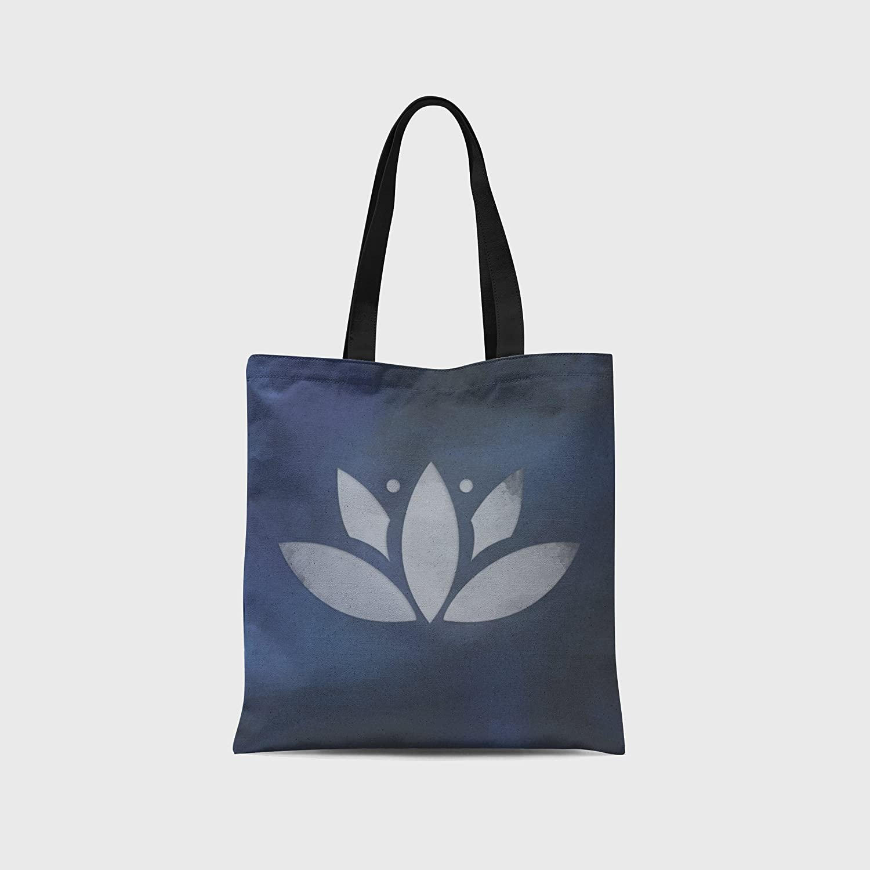 ee47505f4a Amazon.com  Lotus Flower Tote Bag - Canvas Tote Bag - Stylish Tote Bag -  Namaste  Handmade