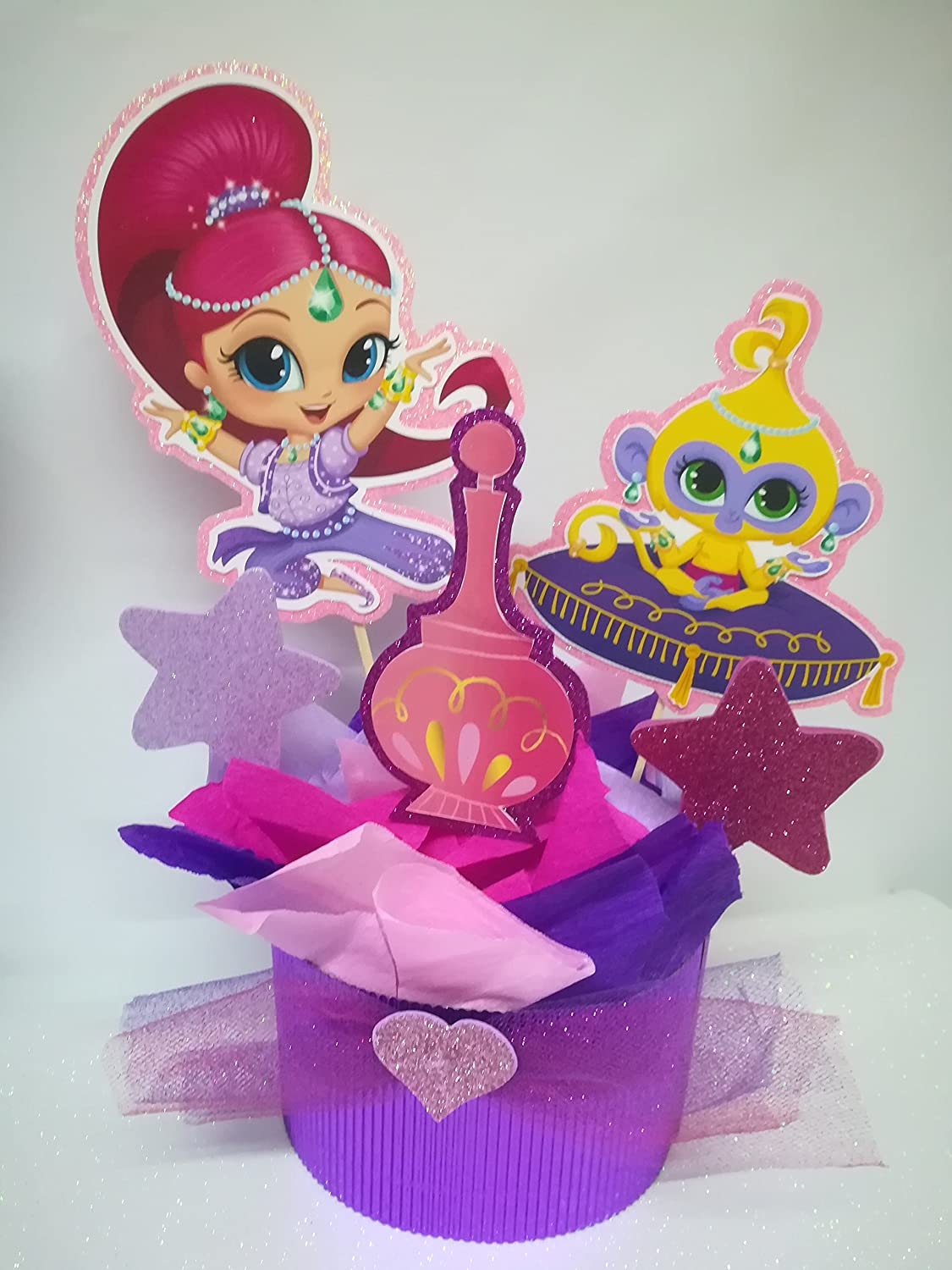 4 SHIMMER AND SHINE CENTERPIECES PARTY DECORATION BIRTHDAY CENTERPIECE