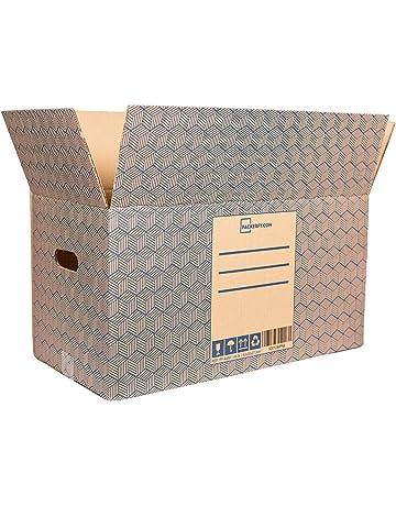 795a1abf6 10 Cajas de Mudanza y Almacenaje Grandes y resistentes con Asas  (60x30x27,5cm)