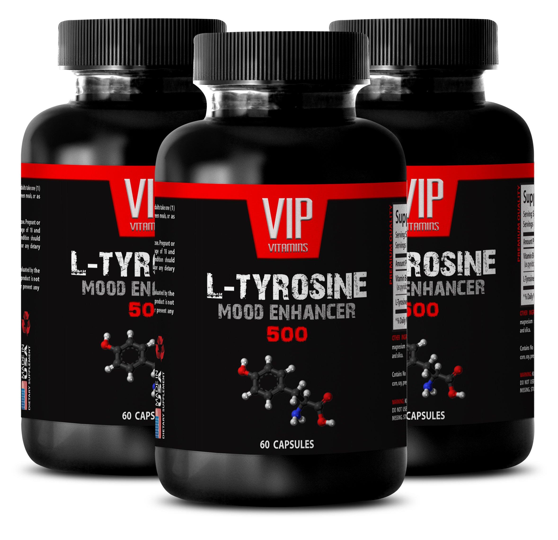 immune support adults - L Tyrosine 500MG - high blood pressure pills - 3 Bottles (180 Capsules)