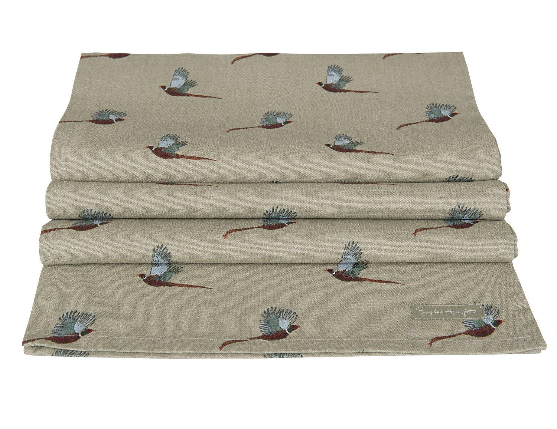 Sophie Allport Table Runner Pheasant design