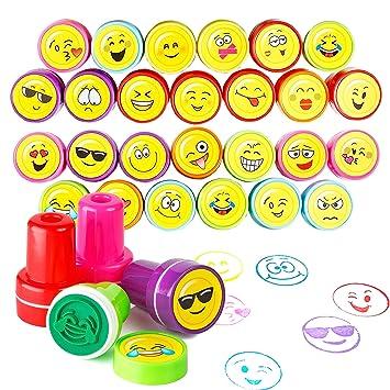 36 Sellos Emoji | Diseños Variados De Juguetes Premios Y Recompensas En El Aula | Rellenos Bolsos Para Fiestas Infantiles, Piñata, Cumpleaños Niños ...